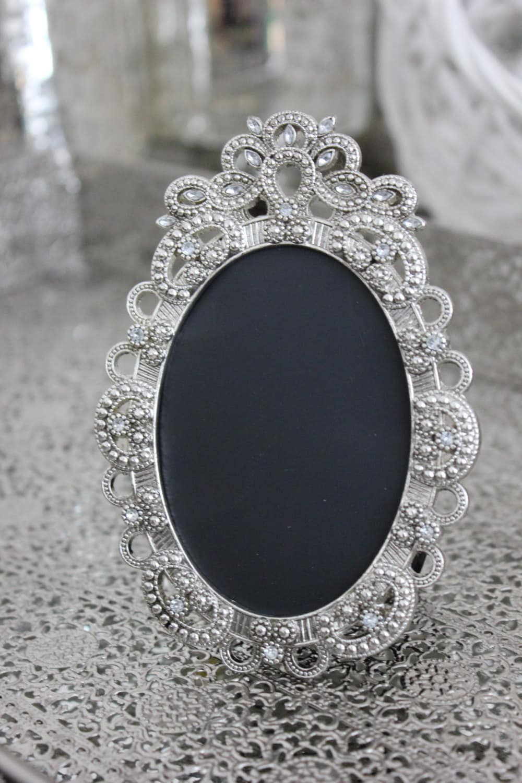 30 vintage style oval jeweled rhinestone frame bling silver zoom jeuxipadfo Images