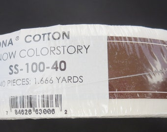 Kona  Skinny Strips/ Roll Up - 1-1/2in Strips Roll Up Kona Cotton Solids Snow Colorstory - 40pcs - SS- 100-40
