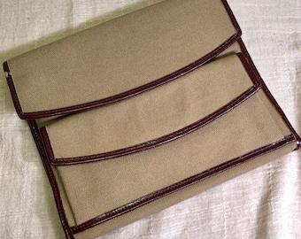 Duncan Forbes Twixley Twist EK Leathergear West Bend, Wisconsin 2124 Duffle Canvas Travel Kit