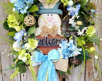 Large Easter Wreath-Bunny Wreath-Easter Wreaths for Front Door-Grapevine Wreath-Spring Wreath-Easter Bunny Wreath-Easter Wreath-Easter