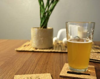 "Life is Brewtiful"""" Cork Coaster"