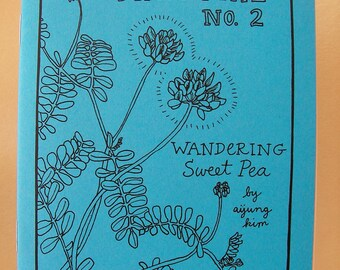"Zine ""Minutiae No. 2: Wandering Sweet Pea"" // perzine / Richmond VA / travel zine / illustration zine / art zine / garden / hummingbird"