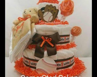 Baseball diaper cake Etsy