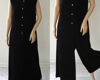 SALE - Comfy 70's Palazzo Pants Jumpsuit/Loungewear