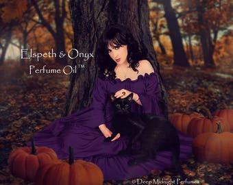 ELSPETH & ONYX™ Perfume Oil - Sweet Pumpkin, Sugared Black Amber, Blackberries, Oakwood, Cedarwood, Dark Chocolate - Halloween Perfume