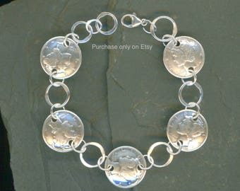 80th Birthday Gift Jewelry Women 1938 Dime Coin Silver Bracelet 80th Birthday Gift For Women Jewelry Gifts For Wife Gifts For Grandma