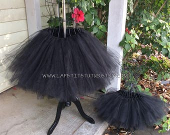 Black mommy and me tutus, girls tutu, adult tutu, mommy and me photo prop, mother and daughter tutus, matching tutu, mother daughter