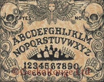 Modern Cross Stitch Kit By Shayne of the Dead 'Ouija Board' - Needlecraft kit
