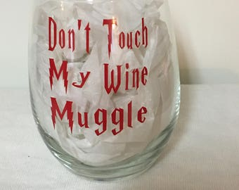 Harry Potter inspired Muggle Wine Glass
