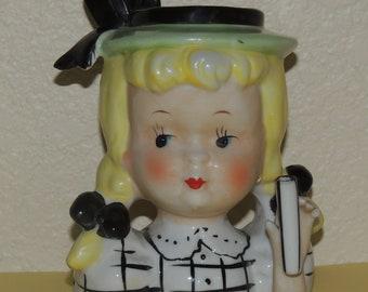 Little Girl Head Vase