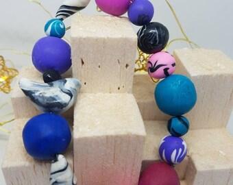 Bird bead bracelet
