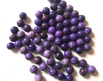 12mm Purple Crazy Lace Agate Smooth Round Beads