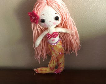 Hand crafted mermaid doll