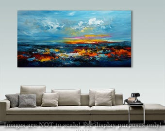 Abstract Painting Palette Knife Modern Painting Art LARGE Painting Wall decor Wall Art Canvas Art Acrylic painting Art by Catalin Seascape