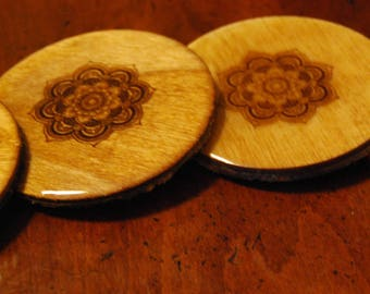 Mandala Coasters - Set of Four