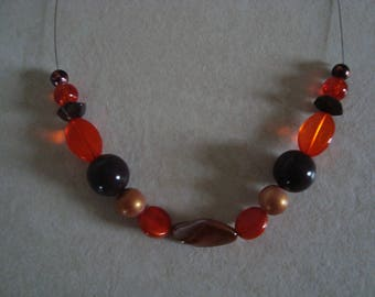 Fashion necklace and simple brown orange
