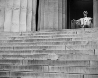 Lincoln Memorial - Washington DC // Black and White Fine Art Photography // Giclée Print