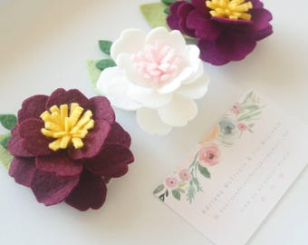 3pc Floral Hair Clips