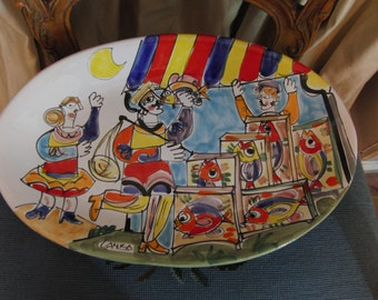Vintage colorful plate