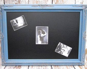 """LARGE CHALKBOARDS For Sale 44""""x32"""" French Blue Wedding French Country Decor Blue Framed Chalkboard LaRGE Home Decor Dining Room"""