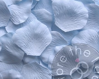 Sky Blue Silk Petals {Package of 100} //// Silk Flower Petals, Silk Rose Petals
