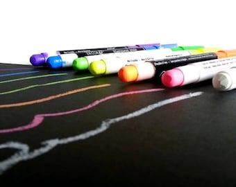 Color chalk marker, liquid chalk, blackboard marker,chalk pen,green chalk writer,pink chalk writer,yellow chalk writer,scrapbooking pensil