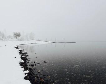 Meditation on Winter Snow Scene Landscape Oregon Landscape Lake in the Snow