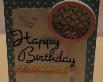 Birthday Balloon Shaker Card