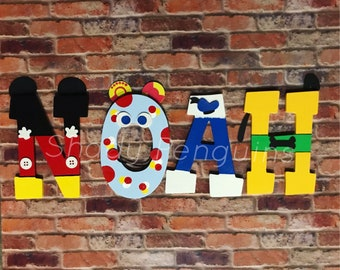 Handpainted Mickey Mouse Clubhouse Letters