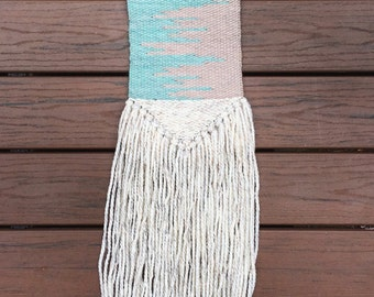 SOLD! Large woven wall hanging