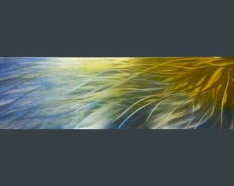 Modern abstract metal wall art titled Sunshine by R Toomer. Home Decor.