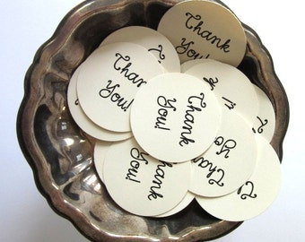 Thank You Tags Round Gift Tags Set of 10