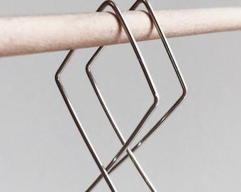 Geometric Threader Earrings in Sterling Silver/Gift for Her/Minimalist/Women Jewellery/Modern