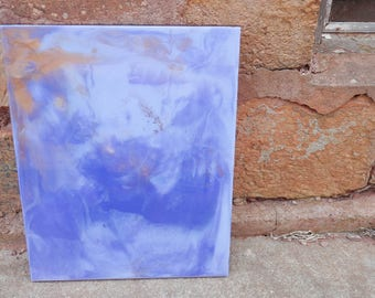 Purple and Gold Resin Artwork on Artists board, Wall Art,