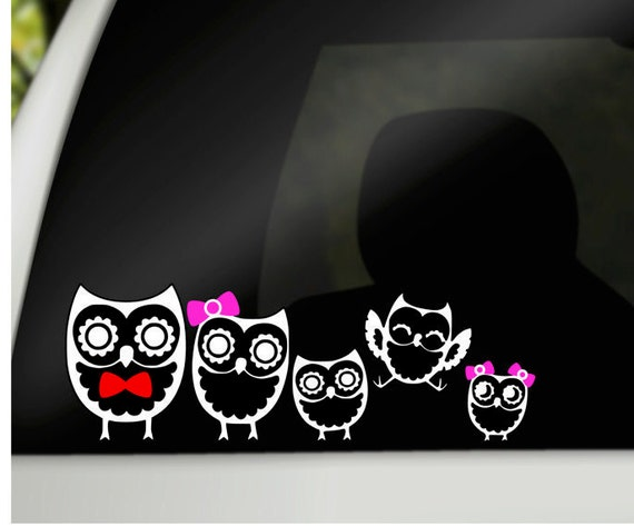 Owl family car decals family car stickers car window