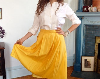 Vintage Yellow Skirt