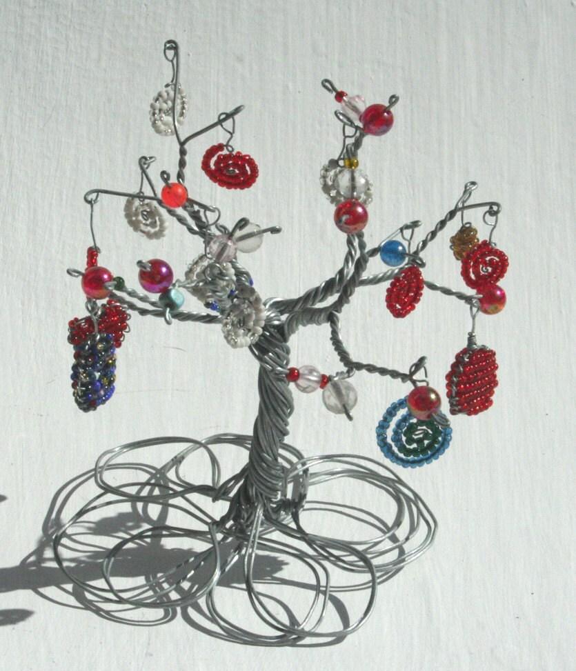 BAOBAB-Baum Handarbeit aus Draht und Perlen schrulligen