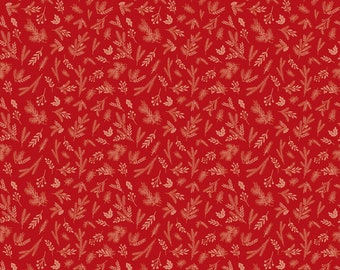 Christmas Delivery Sprigs Red C7334-Red by Carta Bella