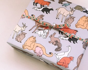 Unlikely Friends Wrapping Paper Sheet