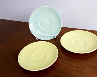 Set of 3 Assorted Luray Pastels Saucer Plates & Luray pastels   Etsy