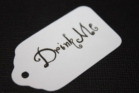 50 Drink Me Favor Tags