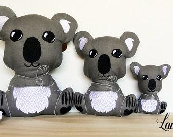 ITH Kari Koala Embroidery Digital Design Files (4x4, 5x7, 6x10)