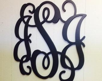 Dorm Room Decor - Wall Monogram - Wall Hanging - College Bound Freshmen - Wooden Wreath - DIY Unpainted