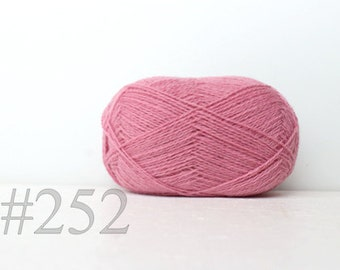 WOOL yarn 100%-Wool for knitting, crochet, - soft pink #252