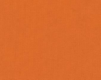 Cedar Kona Cotton, Orange Fabric, Robert Kaufman, Half Yard