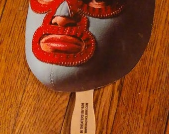 Nacho Libre Paper Promotional Mask On Wooden Stick