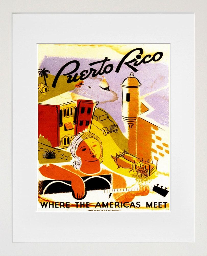Puerto Rico Vintage Travel Poster Wall Art Print ZT568