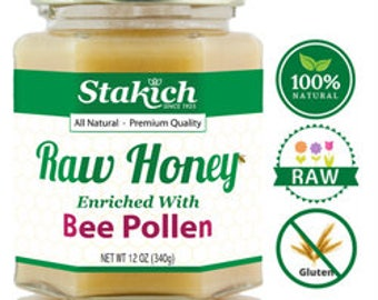 Bee Pollen Enriched Raw Honey