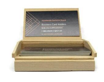 Handmade Desktop Business Card Holder