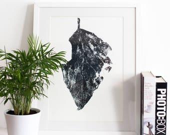 Dry Leaf Screen Print | Screen Printed, Botanical Screen Print | Wall Decor | Wall Print | Hand Screen Printed